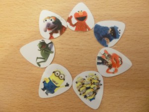 Muppets and Minions plectrums - free starter pack tomhunt.co.uk
